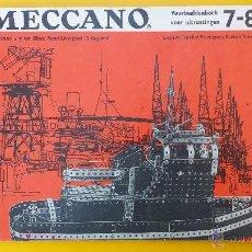 Juguetes antiguos: CATALOGO MECCANO EQUIPOS 7-8 AÑOS 60. Lote 53503589