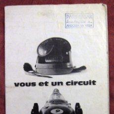 Juguetes antiguos: SCALEXTRIC FRANCES TRI ANG - CATALOGO DESPLEGABLE - VOUS ET UN CIRCUIT - 1960 - . Lote 54629448
