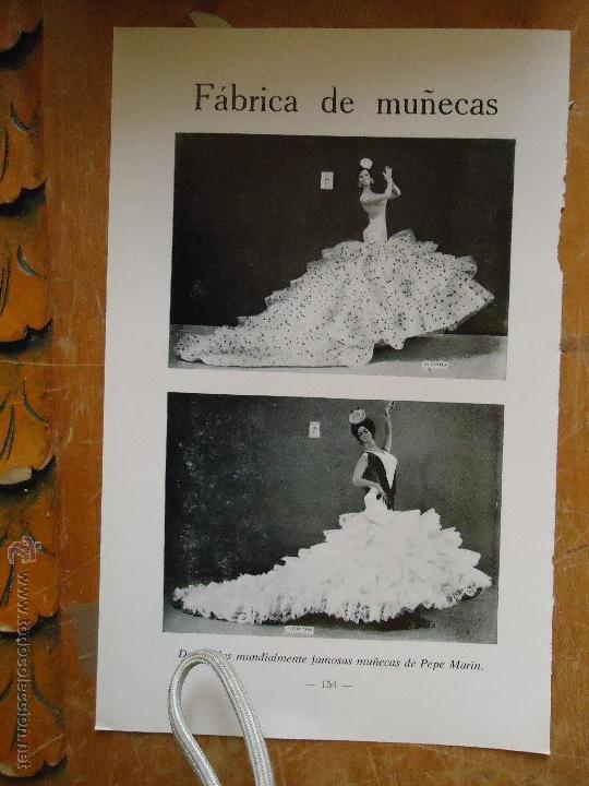 ANTIGUA HOJA PUBLICITARIA FABRICA DE MUÑECA PEPE MARIN MUNDIALMENTE FAMOSA CHICLANA CADIZ (Juguetes - Catálogos y Revistas de Juguetes)