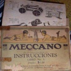 Juguetes antiguos: LOTE 3 CATALOGO MECCANO Nº 1 - METALIN -1 , ANTIGUOS CON FALTAS VER DESCRIPCION . Lote 54876689