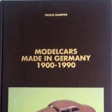 Juguetes antiguos: LIBRO MODELCARS MADE IN GERMANY 1900 - 1990.. Lote 55035323