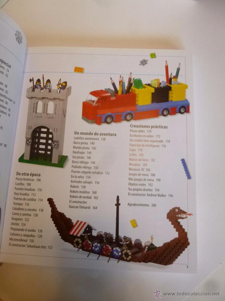 Juguetes antiguos: LEGO, EL LIBRO DE LAS IDEAS, CONSTRUYE LO QUE QUIERAS ( DSNIRL LIPKOWITZ) LEGO 2012 - Foto 7 - 55037353