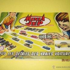 Juguetes antiguos: ANTIGUO CATALOGO DE JUGUETES Y TRENES EN ESCALA *0* DE JEP LE JOUET DE PARIS - AÑO 1950S.. Lote 55063382