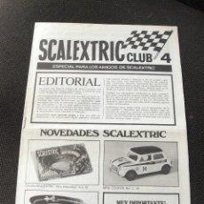 Juguetes antiguos: REVISTA SCALEXTRIC CLUB NUMERO 4 - AÑO 1970 - EXIN. Lote 55184326