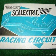 Juguetes antiguos: CATALOGO SCALEXTRIC RACING CIRCUITS 5ª EDICION - 1968. Lote 55323420