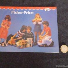 Juguetes antiguos: CATALOGO AÑOS 70 FISHER PRICE COMO NUEVO . Lote 55334879