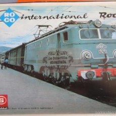 Juguetes antiguos: PUBLICIDAD 1981 - COLECCION JUGUETES - ROCO - IMAGEN RENFE LOCOMOTORA 7675 - TRASERA LOCOMOTORA 250-. Lote 55395296