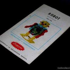 Juguetes antiguos: INSTRUCCIONES SPACE ROBOT REF. 926, LEMSSA MADE IN SPAIN, ORIGINAL AÑOS 60.. Lote 56052844