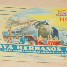 Juguetes antiguos: CATALOGO JUGUETES, PAYA, TRENES ESCALA HO ,IBI ALICANTE ,1960 ,ORIGINAL. Lote 56490722