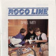 Juguetes antiguos: CATÀLOGO ROCO SPIEL MIT ! 1990 ROCO-LINE GLEISANSLAGEN - EN ALEMÁN. Lote 56626754