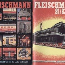 Juguetes antiguos: CATÀLOGO FLEISCHMANN 1981/82 HO N PICCOLO & RALLYE MONTE CARLO +PREIS DM - EN ALEMÁN. Lote 56700584
