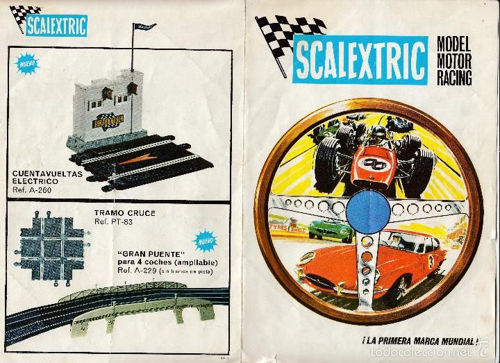 CATÁLOGO SCALEXTRIC, MODEL MOTOR RACING, 1968, ENVÍO GRATIS (Juguetes - Catálogos y Revistas de Juguetes)