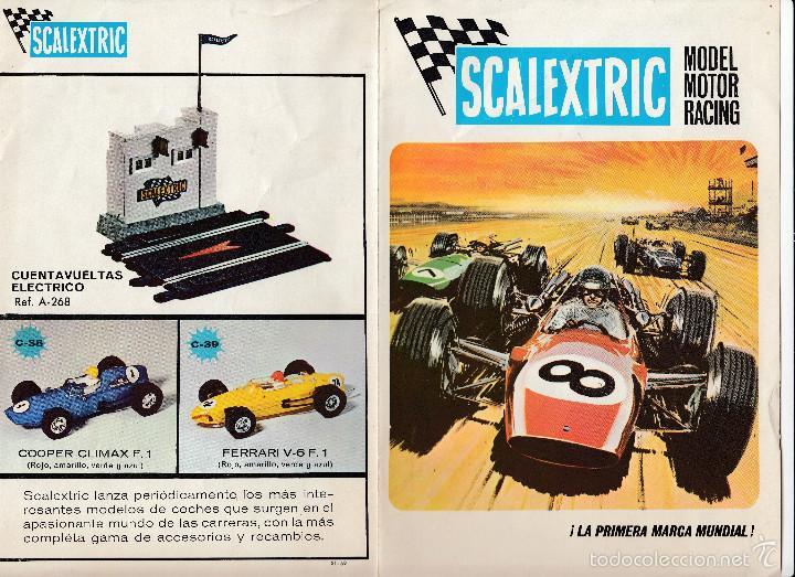 CATÁLOGO SCALEXTRIC, MODEL MOTOR RACING, 1969, ENVÍO GRATIS (Juguetes - Catálogos y Revistas de Juguetes)
