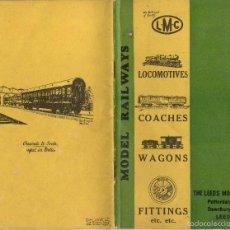 Juguetes antiguos: CATÀLOGO LEEDS MODEL CO 1934 GAUGE O LOCOMOTIVES COACHES ETC. - EN INGLÉS. Lote 56798455