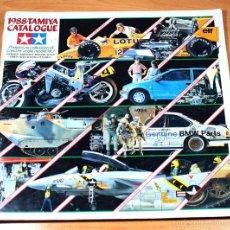 Juguetes antiguos: CATALOGO TAMIYA 1988 86 PAGINAS, COCHES MOTOS BARCOS AVIONES CARROS DE COMBATE MILITAR.... Lote 56985795