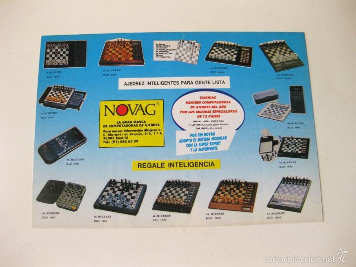 CATALOGO POSTAL CON LOS MODELOS Y CARACTERISTICAS DEL AJEDREZ ELECTRONICO INTELIGENTE NOVAG (Juguetes - Catálogos y Revistas de Juguetes)