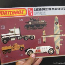 Juguetes antiguos: GRAN CATALOGO MATCHBOX MAQUETAS 51 PAGINAS 1980 1981 EN FRANCES 65 PAGINAS!. Lote 58228175