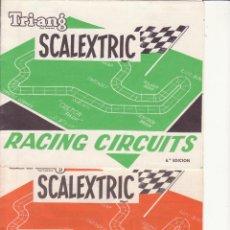 Juguetes antiguos: LOTE DOS CATALOGOS RACING CIRCUITS SCALEXTRIC. Lote 58349157