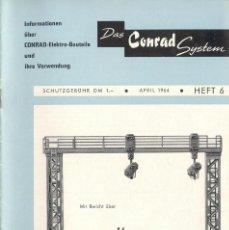 Juguetes antiguos: CATÀLOGO CONRAD SYSTEM MESSENEUHEITEN 1964 ELEKTRO-BAUTEILE - EN ALEMÁN. Lote 58408779