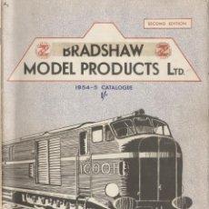 Juguetes antiguos: CATÀLOGO BMP BRADSHAW MODEL PRODUCTS 1954-55 2ND ED. RIVAROSSI TRAINS OO HO - EN INGLÉS. Lote 58411870