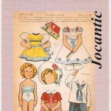 Brinquedos antigos: POSTAL MUÑECA RECORTABLE, SHIRLEY TEMPLE. FERIA DE JUGUETES ANTIGUOS. VELL I BELL. Lote 58679395