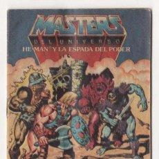 Juguetes antiguos: (ALB-TC-2) COMIC CATALOGO MASTERS DEL UNIVERSWO HE-MAN Y LA ESPADA DEL PODER. Lote 115277276