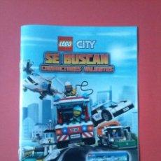 Juguetes antiguos: CATALOGO LEGO COMIC LIBRITO FOLLETO MERCHANDISING LIBRO. Lote 59124145