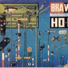 Juguetes antiguos: CATÁLOGO BRAWA MODELLBAHNZUBEHÖR H0 + N 1974 SIGNALE TROLLEYBUS SEILBAHN - EN ALEMÁN. Lote 60116063
