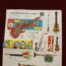 Juguetes antiguos: CATALOGO JUGUETES BERNABEU GISBERT, IBI, ALICANTE 1968 CON LISTA DE PRECIOS. Lote 61327401