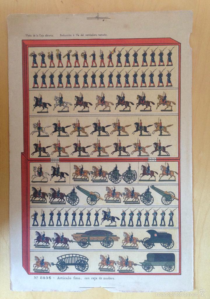 CATALOGO DE SOLDADOS DE PLOMO. PRINCIPIOS DEL XX. HOJA EXPLICATIVA DE CONTENIDO. Nº 8456 (Juguetes - Catálogos y Revistas de Juguetes)