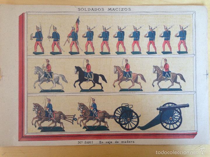 CATALOGO DE SOLDADOS DE PLOMO. PRINCIPIOS DEL XX. HOJA EXPLICATIVA DE CONTENIDO. Nº 8461. 40CM. APRX (Juguetes - Catálogos y Revistas de Juguetes)