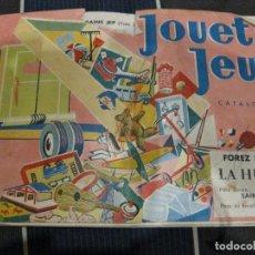 Juguetes antiguos: BONITO ANTIGUO CATALOGO JUGUETES JUEGOS MUÑECA TREN MECCANO ... EN FRANCÉS FOREZ SPORT 12 PAG . Lote 61699272
