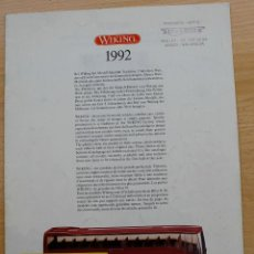 Juguetes antiguos: CATÁLOGO MODELISMO VEHÍCULOS WIKING H0 N AÑO 1992 16 PÁGINAS BIEN CONSERVADO. Lote 61732056