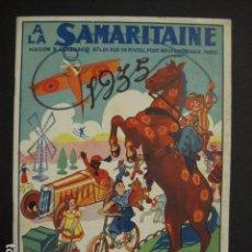 Juguetes antiguos: CATALOGO JUGUETES - LA SAMARITAINE - PARIS - AÑO 1935 - VER FOTOS ADICIONALES - ( V- 6607). Lote 61913144