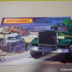 Juguetes antiguos: CATALOGO MATCHBOX 1982 - 1983 EN INGLES - ORIGINAL ANTIGUO - LESNEY - PESO 31 GR. EDITADO EN LONDRÉS. Lote 62210384