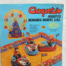 Juguetes antiguos: CATALOGO JUGUETES BERNABEU GISBERT SRC. AÑOS 70, IBI ALICANTE. Lote 64515135