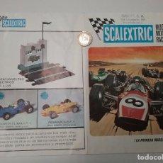 Juguetes antiguos: SCALEXTRIC CATÁLOGO - MODEL MOTOR RACING 1969 - SELLO IMBERT. Lote 65331639