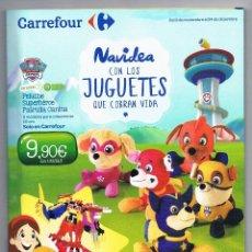 Juguetes antiguos: CATALOGO PUBLICIDAD CARREFOUR JUGUETES 2016 NAVIDAD REYES MAGOS. Lote 67959821