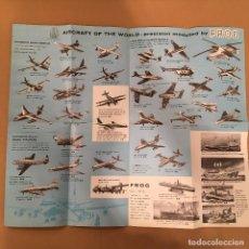 Juguetes antiguos: MAQUETAS - CATALOGO JUGUETES - FROG PLASTIC MODELS - INTERNATIONAL MODEL AIRCRAFT LTD. MILITAR. Lote 217253487