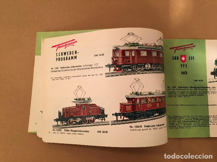 TRENES - FLEISHMANN - 1958/59 - CATALOGO JUGUETES - TREN (Juguetes - Catálogos y Revistas de Juguetes)