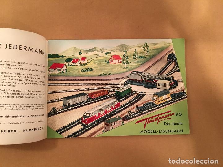 Juguetes antiguos: TRENES - FLEISHMANN - 1958/59 - CATALOGO JUGUETES - TREN - Foto 3 - 68994153