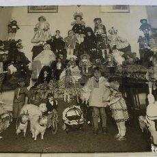Juguetes antiguos: FABRICA DE MUÑECAS FLORIDO REPORTAJE JUGUETES 1928 FOTO ORIGINAL DE IMPRENTA. Lote 69056485