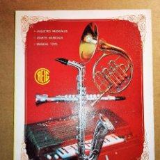 Juguetes antiguos: CATALOGO JUGUETES CLAUDIO REIG DE IBI (ALICANTE) AÑO 1972. Lote 72019109