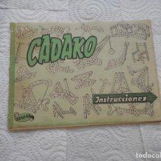 Juguetes antiguos: CADAKO DE GEYPER. LIBRO DE INSTRUCCIONES DEL JUEGO DE LOS AÑOS 50. BUEN ESTADO. Lote 70038741