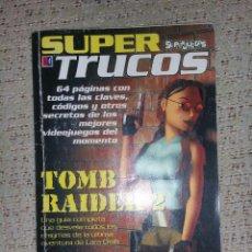 Juguetes antiguos: REVISTA SUPER TRUCOS (SUPERJUEGOS) Nº 04 GUÍA TOMB RAIDER 2 (MÁS TRUCOS RESIDENT EVIL Y MÁS). Lote 70157745