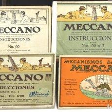 Juguetes antiguos: 8272 - MANUAL DE INSTRUCCIONES. MECCANO. 4 EJEMPLARES. (VER DESCRIPCIÓN). S/F.. Lote 71154989