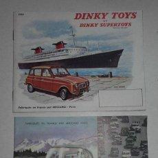 Juguetes antiguos: DINKY TOYS, DOS CATALOGOS. 1961.. Lote 71146538