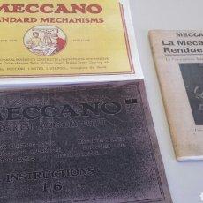 Juguetes antiguos: REPRODUCCIONES DE TRES ANTIGUOS CATALOGOS DE MECCANO. Lote 72213677