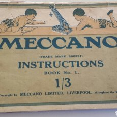 Juguetes antiguos: ANTIGUO CATALOGO ORIGINAL MECCANO EN INGLES. Lote 72213923