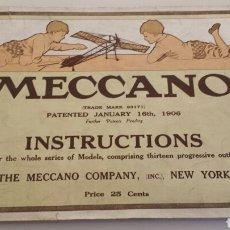 Juguetes antiguos: CATALOGO MECCANO 1913 EN INGLES. Lote 72216597